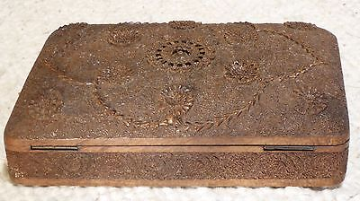 Antique Anglo-Indian Carved Box with British Indian army insignia.