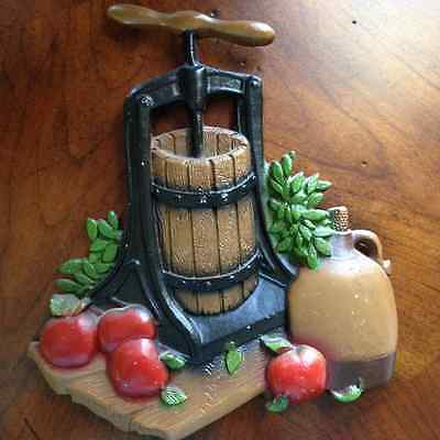 Farmhouse Kitchen Metal Wall Plaque Apple Cider Fall Harvest HOMCO 1978 1270 BX