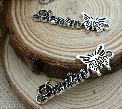 NEW Wholesale 5pcs Tibet silver Butterfly Crafts Charms Pendants Making Jewelry