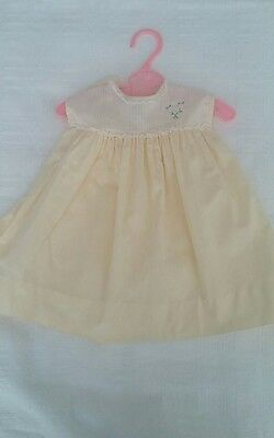 Vintage Nannette Infant Baby Toddler Yellow Dress ~3-6 Months