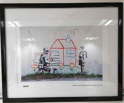 Banksy Print Limited Edition Framed Print Forclosure Brand New Latest Images
