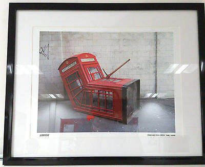 Banksy Print Limited Edition Framed Murdered Phone Booth Brand New Latest Images