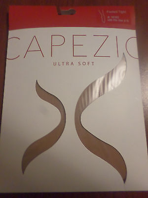 Capezio Ultra Soft Footed Tights Girls Size 8-12 1915C LSn Beige Brown NIP   -A