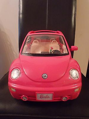 pink barbie volkswagon car