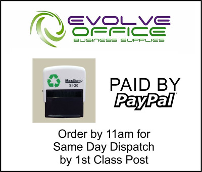 Self Inking Paid Rubber Word Stamp Office School Business Accounts Shop Business