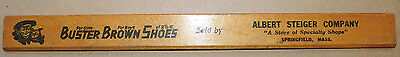 Vintage Buster Brown Shoes Wood Ruler Advertising, Albert Steiger Company, MASS
