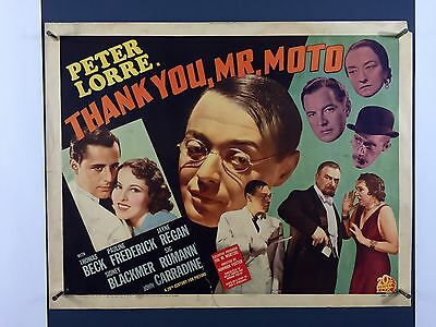 Ultra Rare THANK YOU MR. MOTO Orig Movie Poster 1937 Half Sheet Peter Lorre 4019