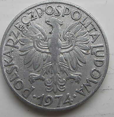 1974 - 5 zlotych - Polish coin - used