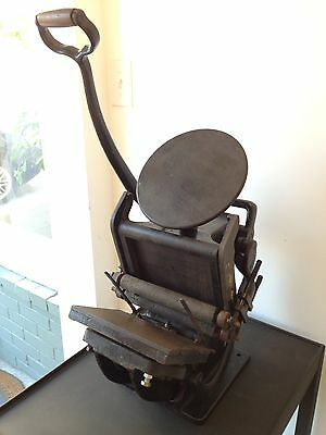 Sigwalt No. 4 Ideal Press Letterpress Printing - Tabletop Press - Golding Kelsey