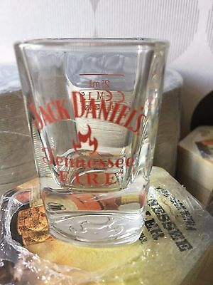 Uk Release Of The    Jack Daniels Tennessee Fire Shot Glass