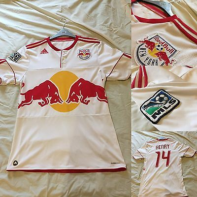 New York Red Bulls Home Shirt - Henry #14, Adidas Large