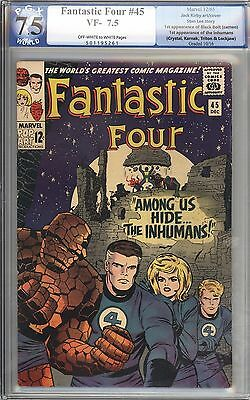 Fantastic Four #45 CGC 7.5 1st App of the Inhumans Marvel Comics CENTS copy