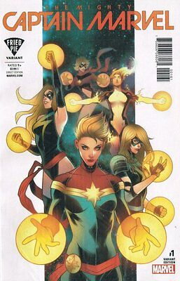 The Mighty Captain Marvel #1 Exclusive Fried Pie Variant Cover Marvel 2017