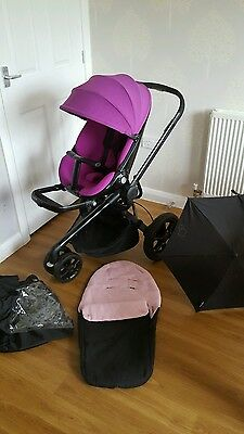 Quinny Moodd Violet Focus Travel System Single Seat Stroller