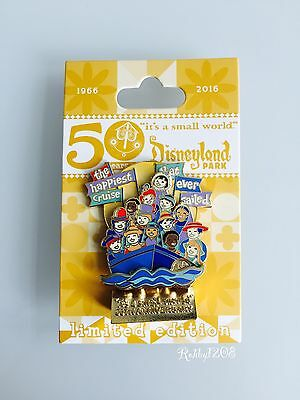 Disneyland Its a small world 50th Anniversary Happiest Cruise Pin LE1500