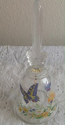 AVON FINE COLLECTABLE VINTAGE Butterflies FANTASY CRYSTAL BELL 1992 Butterfly