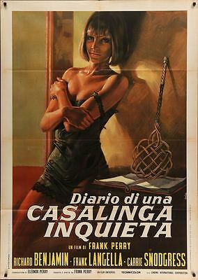 DIARY OF A MAD HOUSEWIFE Italian 2F movie poster 39x55 ALICE COOPER SNODGRESS 70