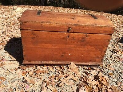 REDUCED 1700's-1800's Pine Immigrant Shipping Trunk