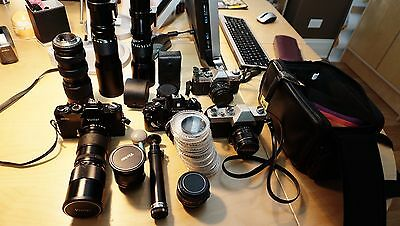 Cameras Equipment, camera bodies, manual lens kits, lens protectors, and more