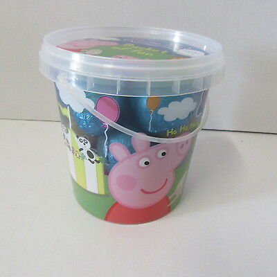 KINNERTON PEPPA PIG chocolate easter egg BUCKET OF HOLLOW EGGS CHOCOLATE