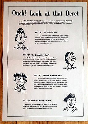 Original WWII Poster, Ouch! Look At That Beret,The Right Method of Wearing Beret