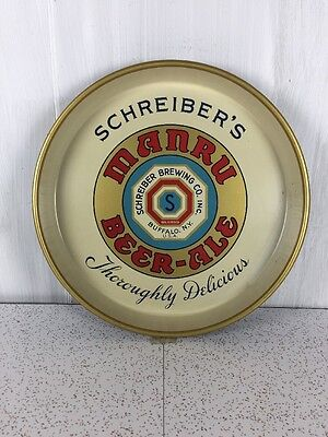 Manru Ale Beer Tray Schreiber's Thoroughly Delicious Vintage Rare