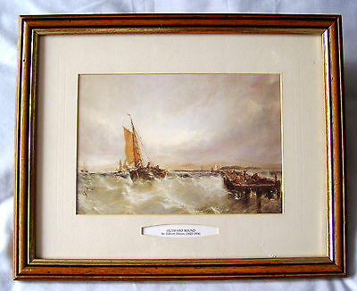 EDWIN HAYES (1820-1904) 'OUTWARD BOUND' from SHOREHAM HARBOUR PRINT VINTAG