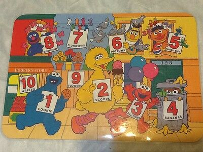 Sesame Street Colorful Fun Counting w/ The Count Placemat Cognitive Stimulation