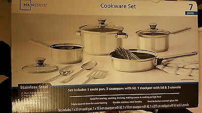 Mainstays cookware set 7 pieces