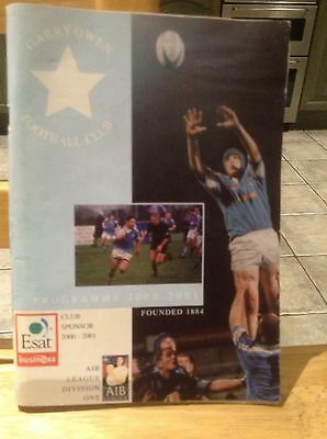 Garryowen Rugby Football Club Programme 2000. Very good condition. Autographed.