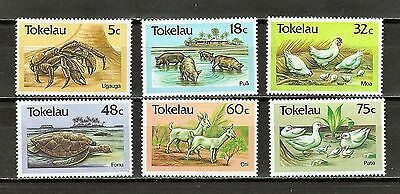 Tokelau Sc#132-7 MNH Coconut Crab, Pigs, Chickens, Turtles, Goats, Ducks