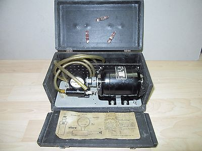 vintage medical quack device Troutman Cataract extraction kit bodine 1/40 hp
