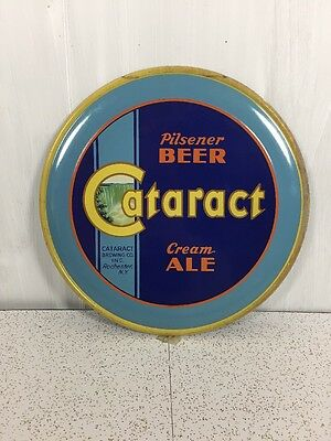 Cataract Cream Ale Beer Sign Vintage Rare Round Rochester N.Y.
