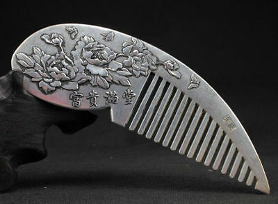 Art Noveau Miao Silver Floral Comb..Never Used