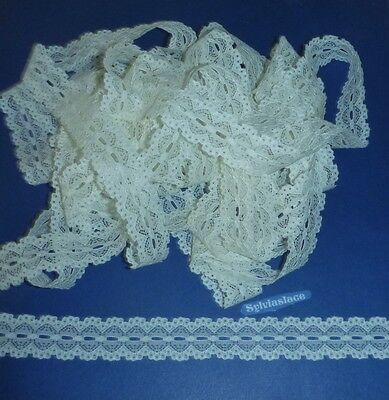10  metres  of  Cream  Cotton   Look   Eyelet   Lace   25 mm  Wide