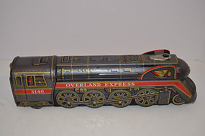 """Vintage 1960's Modern Toys Battery Operated """"Overland Express"""" - VG & Working"""