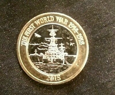 2015  Royal Navy HMS Belfast First World War  £2 Coin