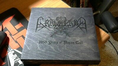 Graveland:1050 Years of Pagan Cult, Limited Edition CD in Wooden Box Black Metal