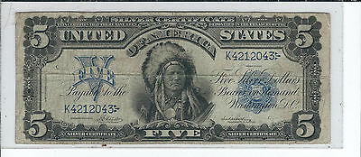 United States $5 Silver Certificate series of 1899 in Very Good condition