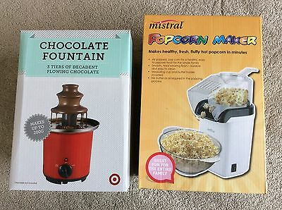 Chocolate Fountain and Popcorn Maker