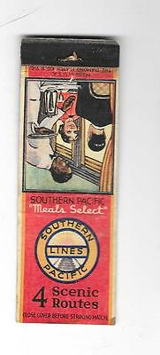 Matchbook - Southern Pacific Lines - 4 Scenic Railroad Routes