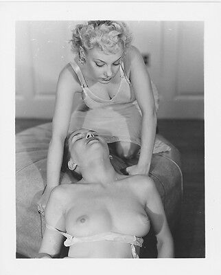 Vintage Nude Photo Original 1950's Busty Female Model Risque Pinup AH3.3