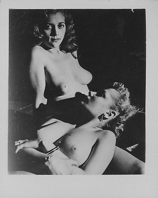 Vintage Nude Photo Original 1950's Busty Female Model Risque Pinup AH3.23