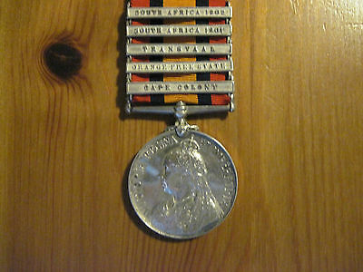 Queens South Africa Medal - 3554 Pte R Moore 3rd Dragoon Guards