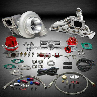 Gt35 .70Ar 500+Hp Boost 8Pc Turbo Charger+Manifold Kit For 03-05 Dodge Neon Srt4