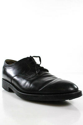 Tods Black Leather Mens Lace Up Oxford Dress Shoes Size 9.5