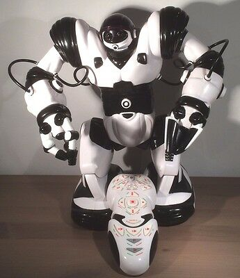 WowWee Large Robosapien white  RC Robot -with remote  spares or repair