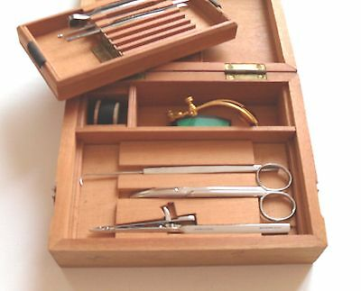 Ophthalmic Surgical Set by Weiss in Wooden Box - NEW from 1960's