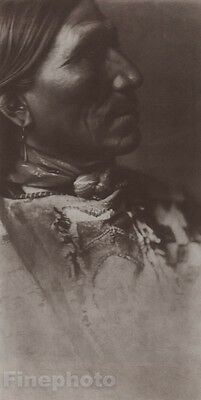 1900/72 Photo Gravure NATIVE AMERICAN INDIAN Sioux Tribe Art EDWARD CURTIS 11x14