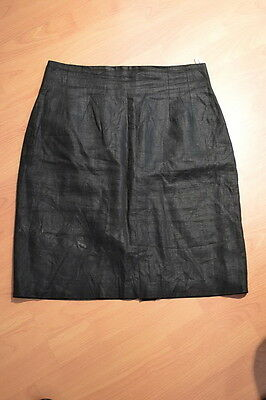 NEW!  100% Linen Black Straight Pencil Skirt by Adolfo, Size 14